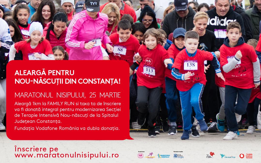 Alearga si in 2018 la Maratonul Nisipurilor pentru nou-nascutii din Constanta!